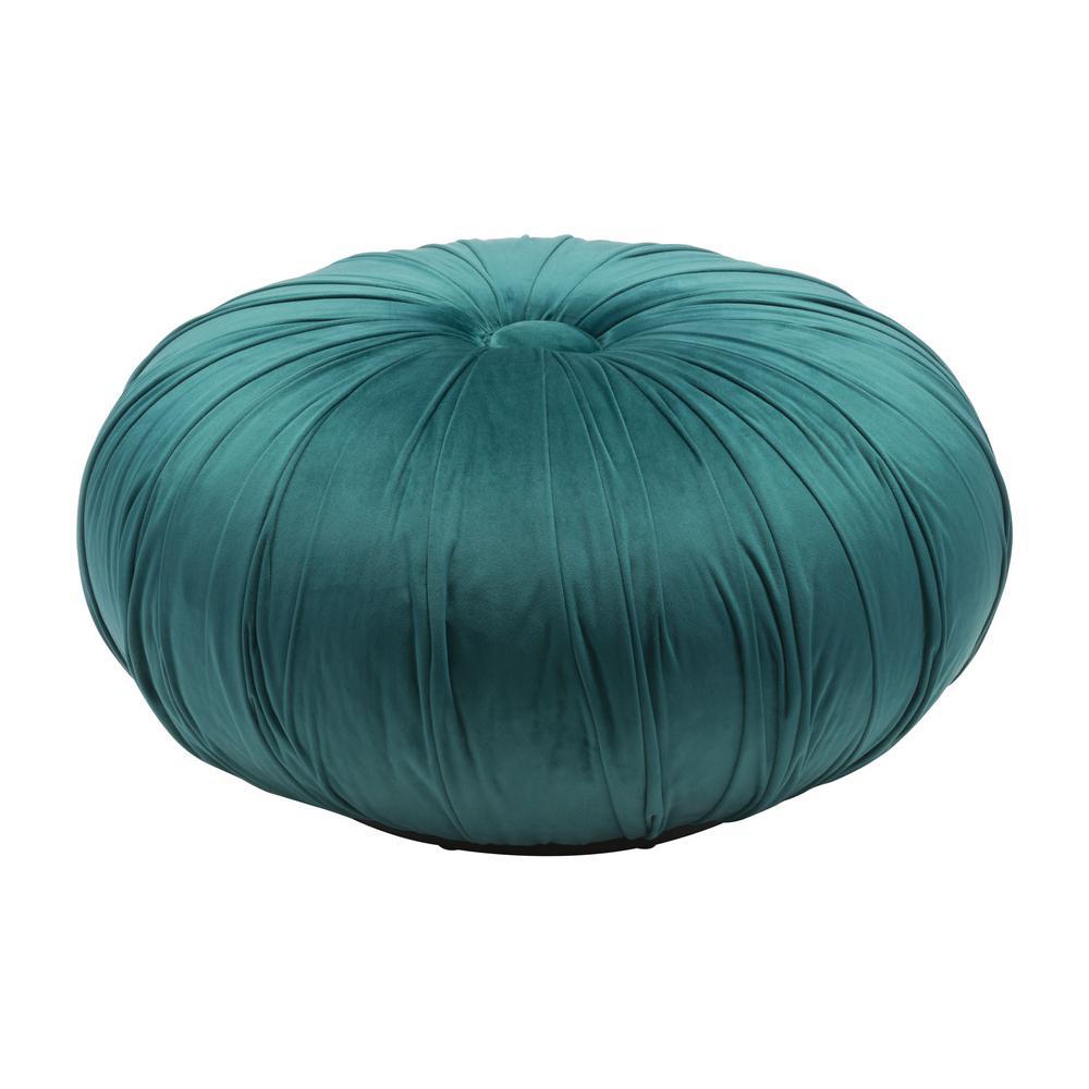 18cba992 ZUO Bund Green Velvet Accent Ottoman 101125 - The Home Depot