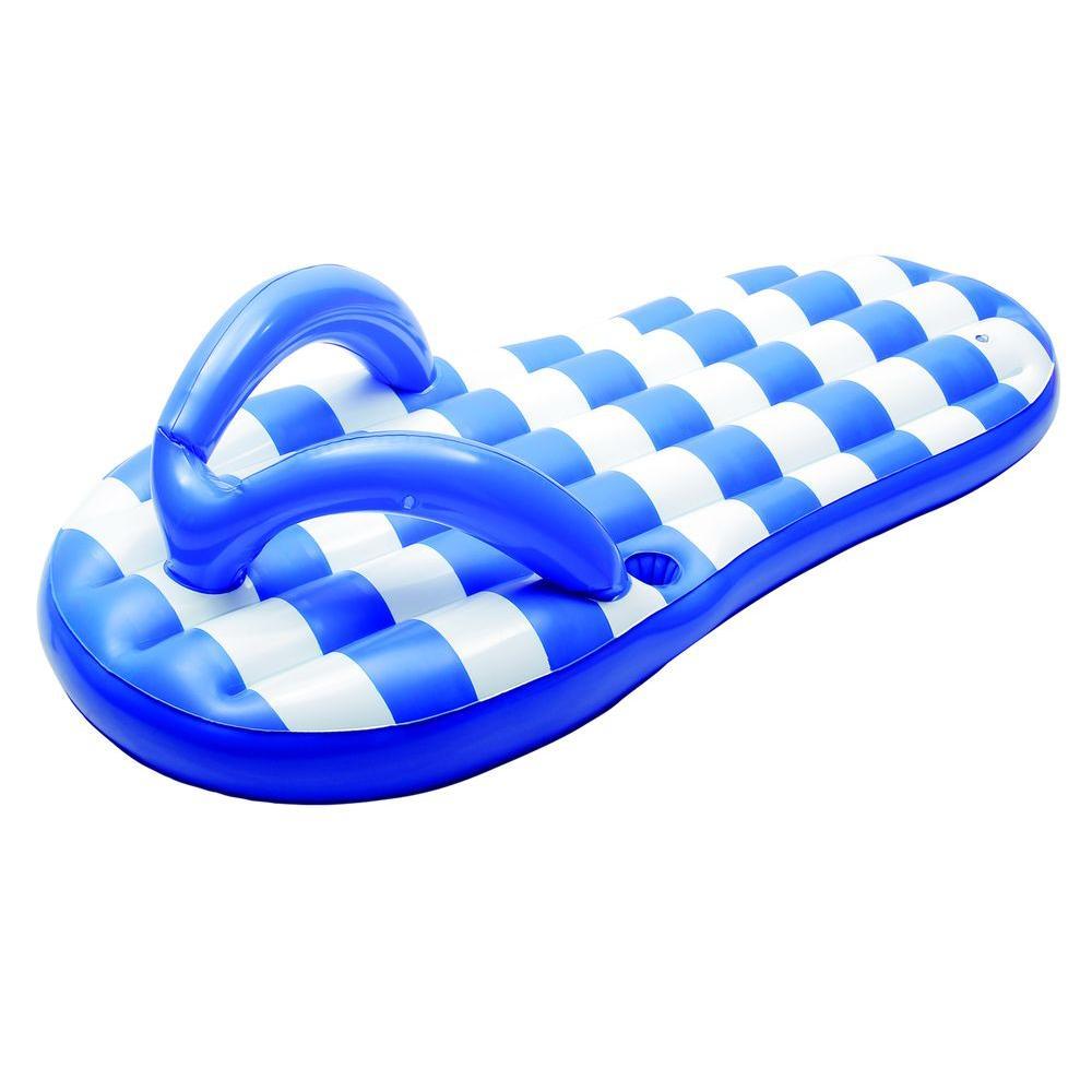 top design shop for half price Blue Wave Marine Blue Flip Flop 71 in. Inflatable Pool Float