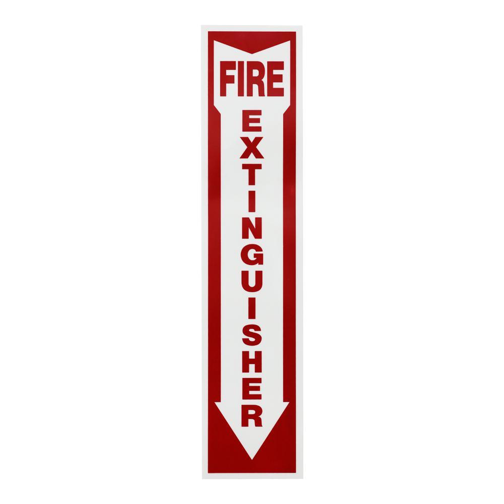 4 in. x 18 in. Glow-in-the-Dark Fire Extinguisher Sign