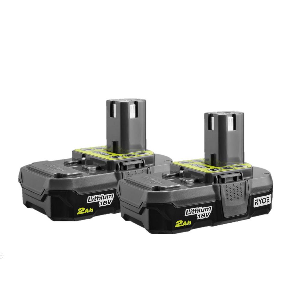 Ryobi 18 Volt One 2 0 Ah Lithium Ion Compact Battery Pack