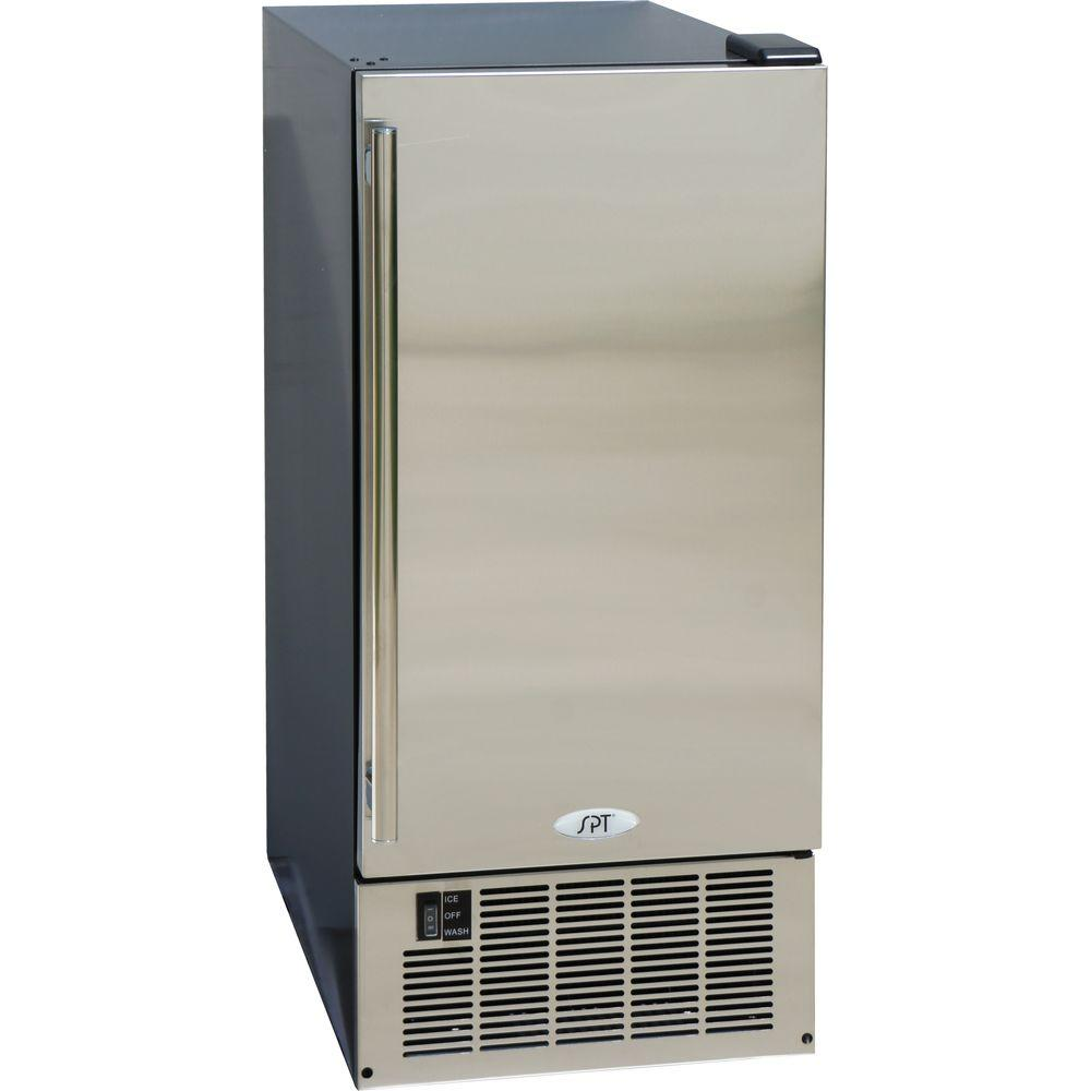 SPT 14.6 in. 50 lb. Built-In Ice Maker in Stainless and B...