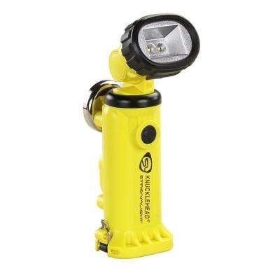 Knucklehead Yellow Flashlight with Charger/Holder and 120-Volt AC and DC Cords