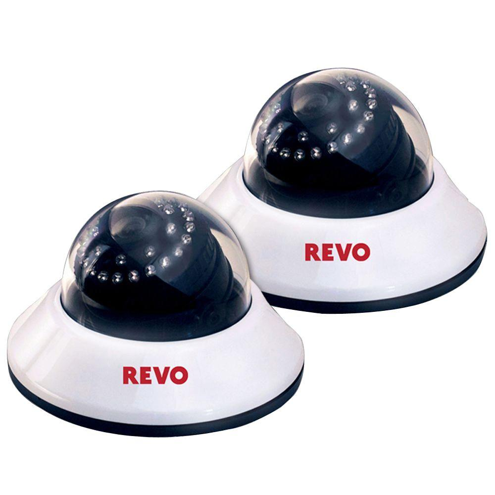 660TVL Indoor Dome Surveillance Camera with 80 ft. Night Vision (2-Pack)