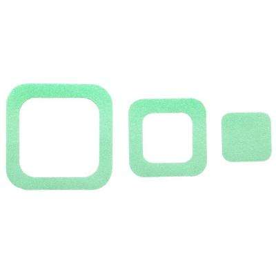 Adhesive Square Treads in Green (21-Count)
