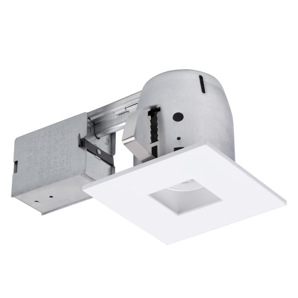 Globe Electric 4 In White Led Ic Rated Swivel Spotlight Square Recessed Lighting Kit Dimmable Downlight
