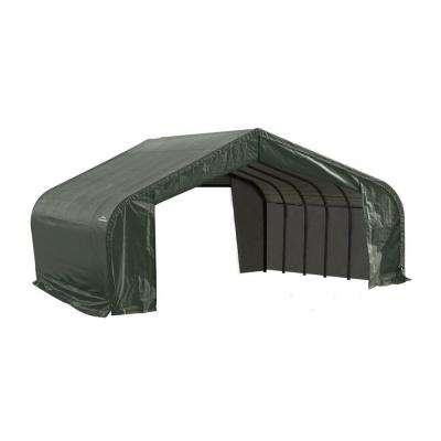 22 ft. x 28 ft. x 13 ft. Green Steel and Polyethylene Garage without Floor