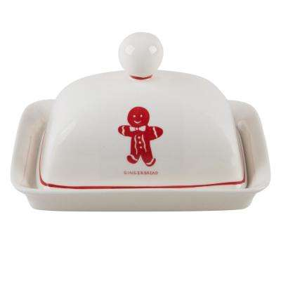 Molly Hatch 6.75 in. L Gingerbread Butter Dish