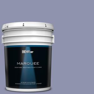 Behr Marquee 5 Gal S560 4 Monarchy Satin Enamel Exterior Paint And Primer In One 945405 The Home Depot