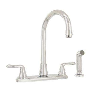 Colony Soft 2-Handle Standard Kitchen Faucet in Polished Chrome