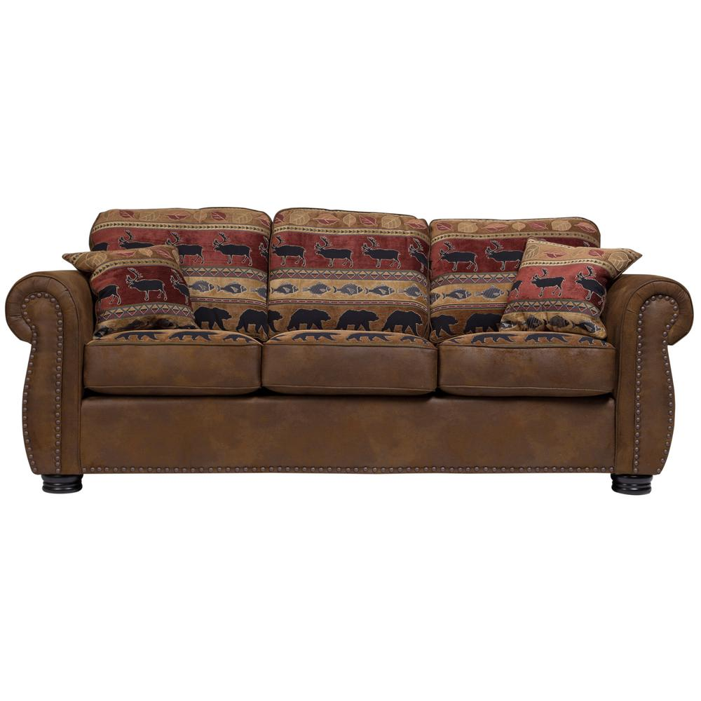 Hunter Transitional Sleeper Sofa in Wildlife Pattern 01-33C ...