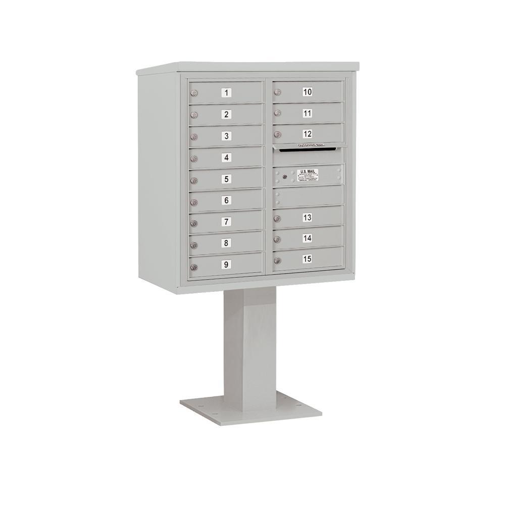 Salsbury Industries 3400 Horizontal Series 15-Compartment Pedestal Mount Mailbox