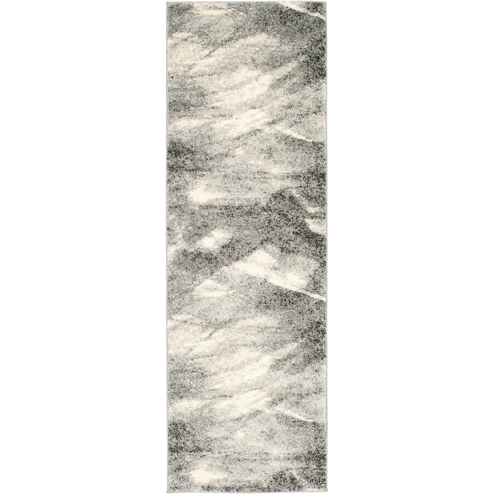 Safavieh Retro Gray/Ivory 2 ft. 3 in. x 19 ft. Runner Rug