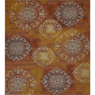 Outdoor Modern Rust Red 10' x 12' Rug