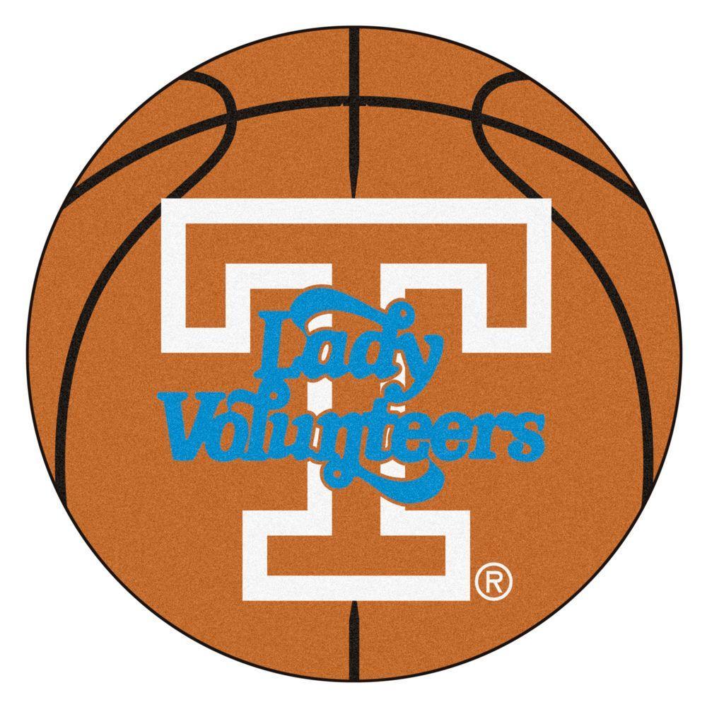 NCAA University of Tennessee Lady Vols Logo Orange 2 ft. x 2 ft. Round Area Rug