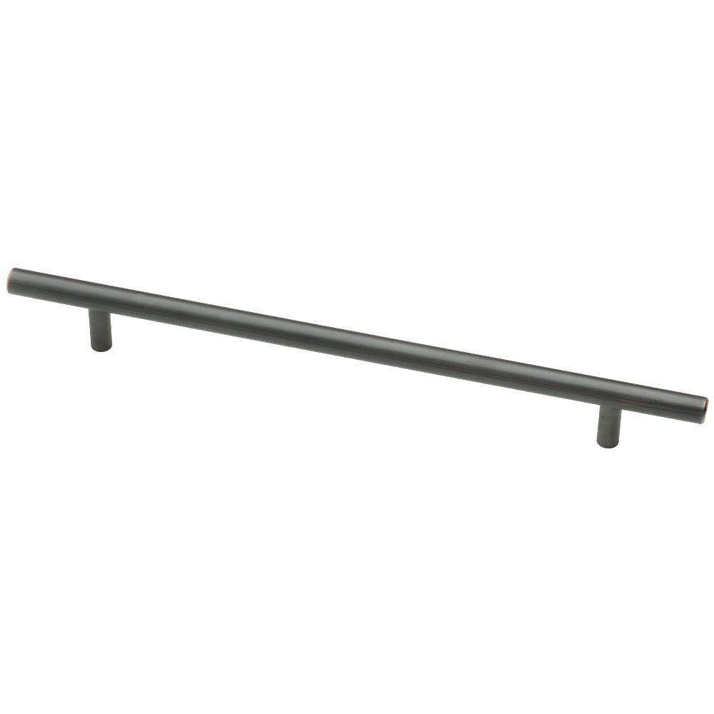 Liberty 8-13/16 in. (224mm) Center-to-Center Bronze with Copper Hightlights Bar Drawer Pull