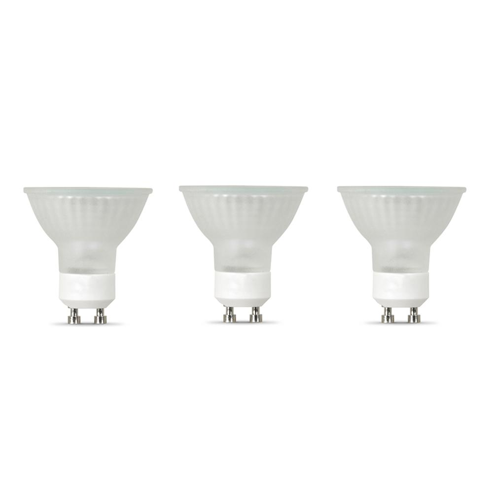 50-Watt Bright White (3000K) MR16 GU10 Bi-pin Base Dimmable Halogen Light Bulb (3-Pack)