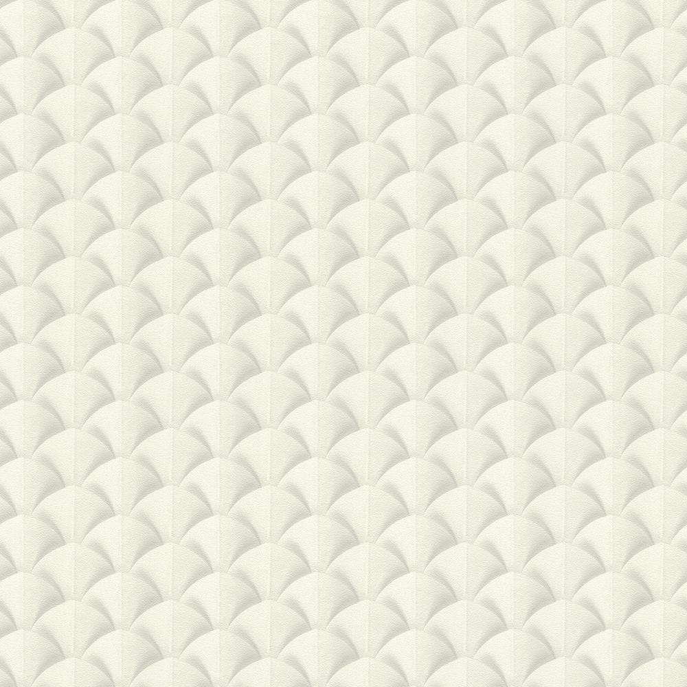 8 in. x 10 in. Lanux Off-White Fan Wallpaper Sample