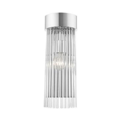 Norwich 4.5 in. Polished Chrome Sconce with Crystal Rods