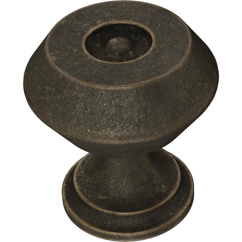Refined Farmhouse 1-3/16 in. (30 mm) Warm Chestnut Cabinet Knob