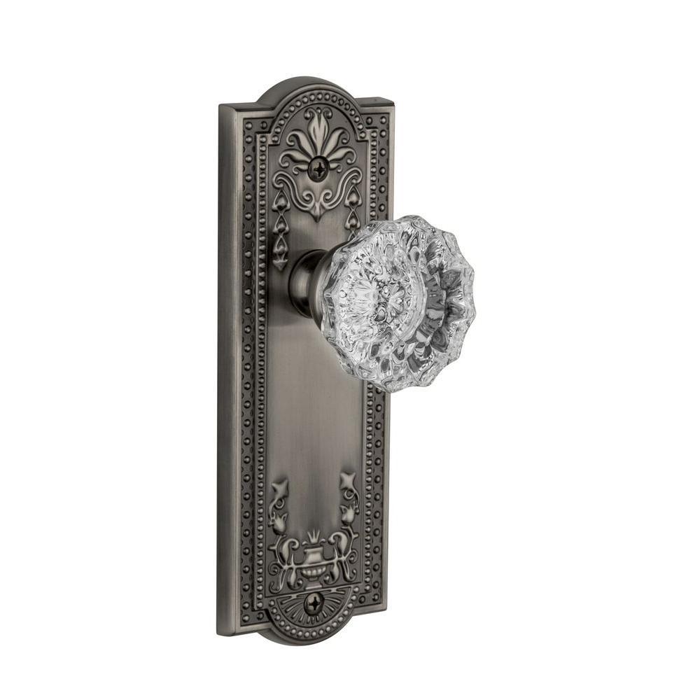 Grandeur Parthenon Antique Pewter Plate with Dummy Versailles Crystal Knob