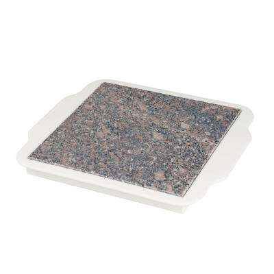 Granite Warming Plate in White