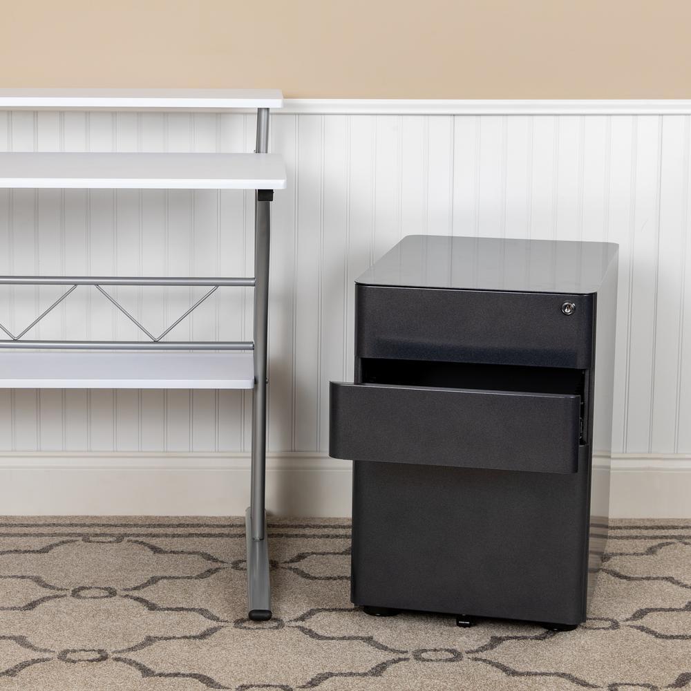 Black Vertical File Cabinet