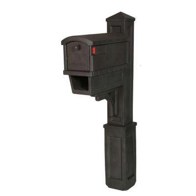 Heritage All-in-One Plastic Mailbox and Post Combo with Newspaper Holder, Venetian Bronze