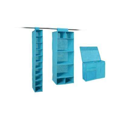 12 in. x 12 in. Blue Storage Bin (3-Pack)