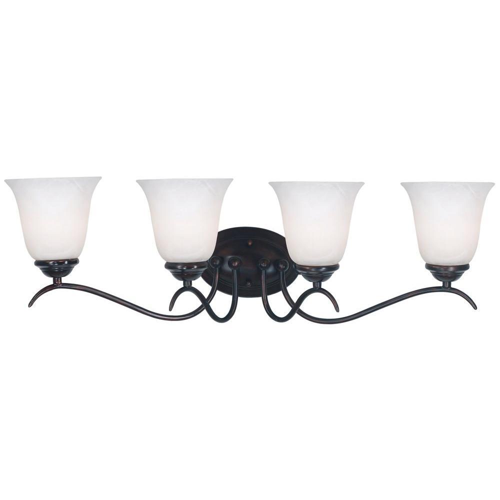 Kenroy Bathroom Vanity Light: Kenroy Home Medusa 4-Light Oil Rubbed Bronze Vanity Light