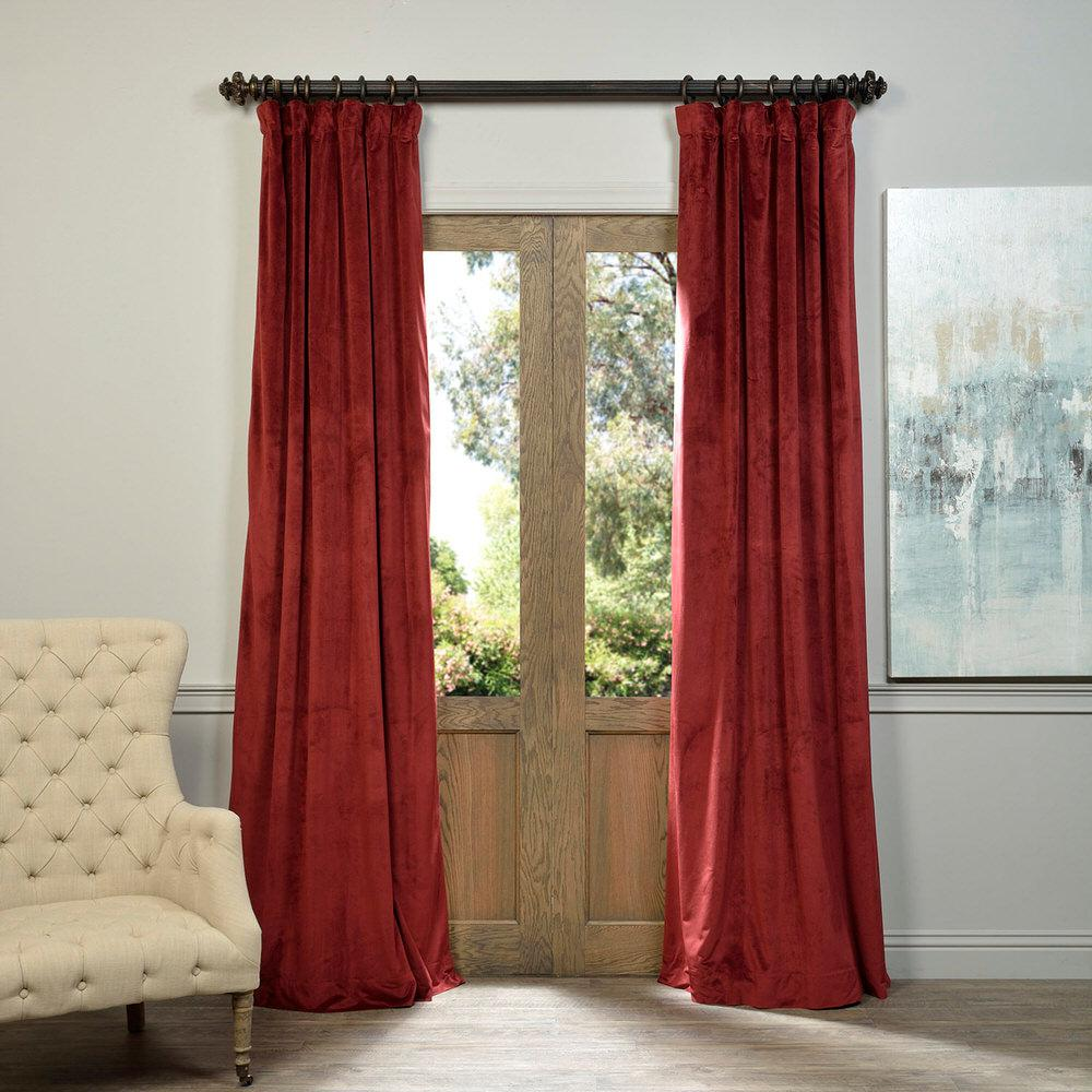 Red Curtain Panel Grommet