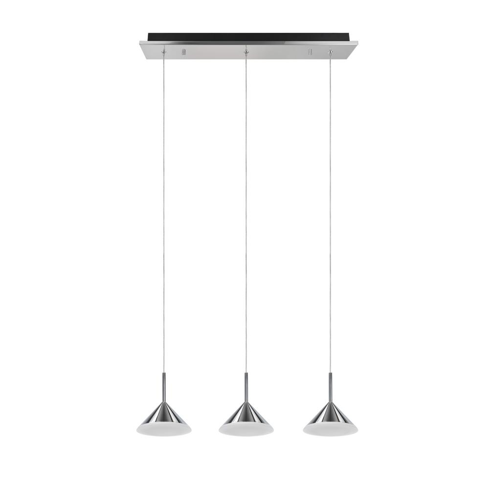 Tech Lighting Aspen: Aspen Creative Corporation 3-Light Chrome Integrated LED
