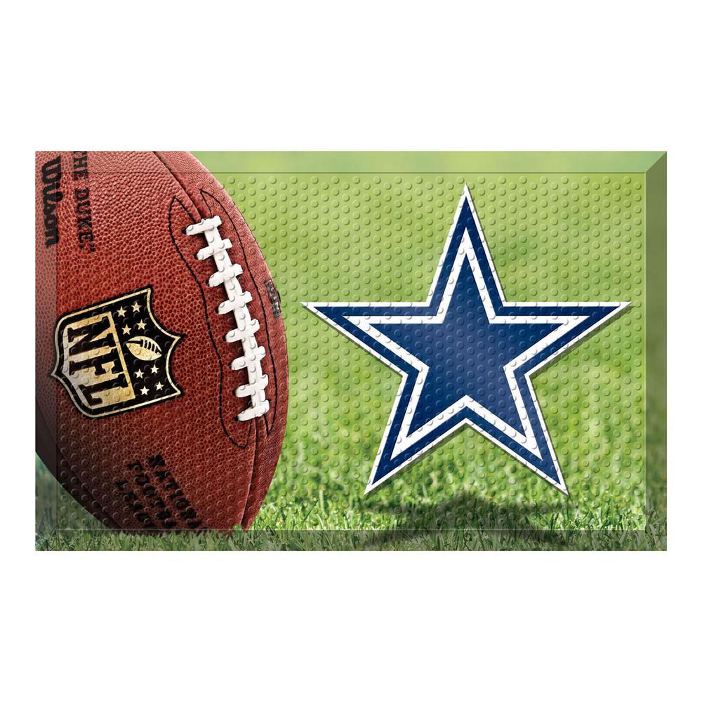cc254cd7c0517e FANMATS NFL - Dallas Cowboys 19 in. x 30 in. Indoor/Outdoor Scraper ...