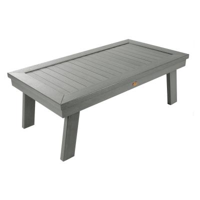 Adirondack Coastal Teak Rectangular Recycled Plastic Outdoor Coffee Table