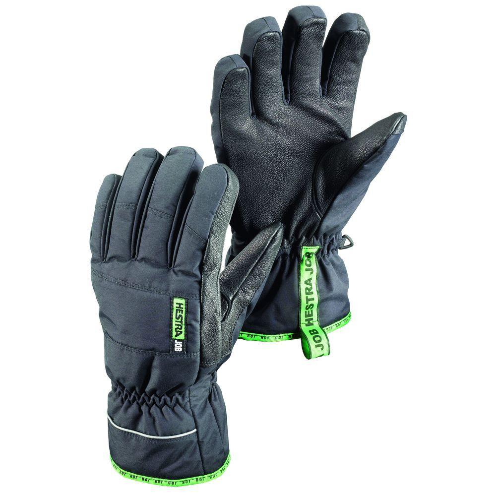 GTX Base Finger Size 8 Medium Cold Weather Insulated Glove Gore-Tex Membrane in Black