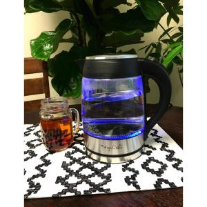1.8 l Glass and Stainless Steel Electric Tea Kettle by