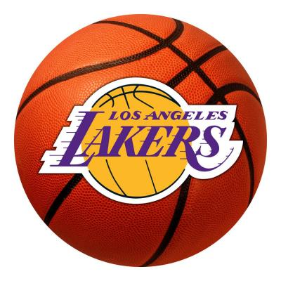 NBA - Los Angeles Lakers Photorealistic 27 in. Round Basketball Mat