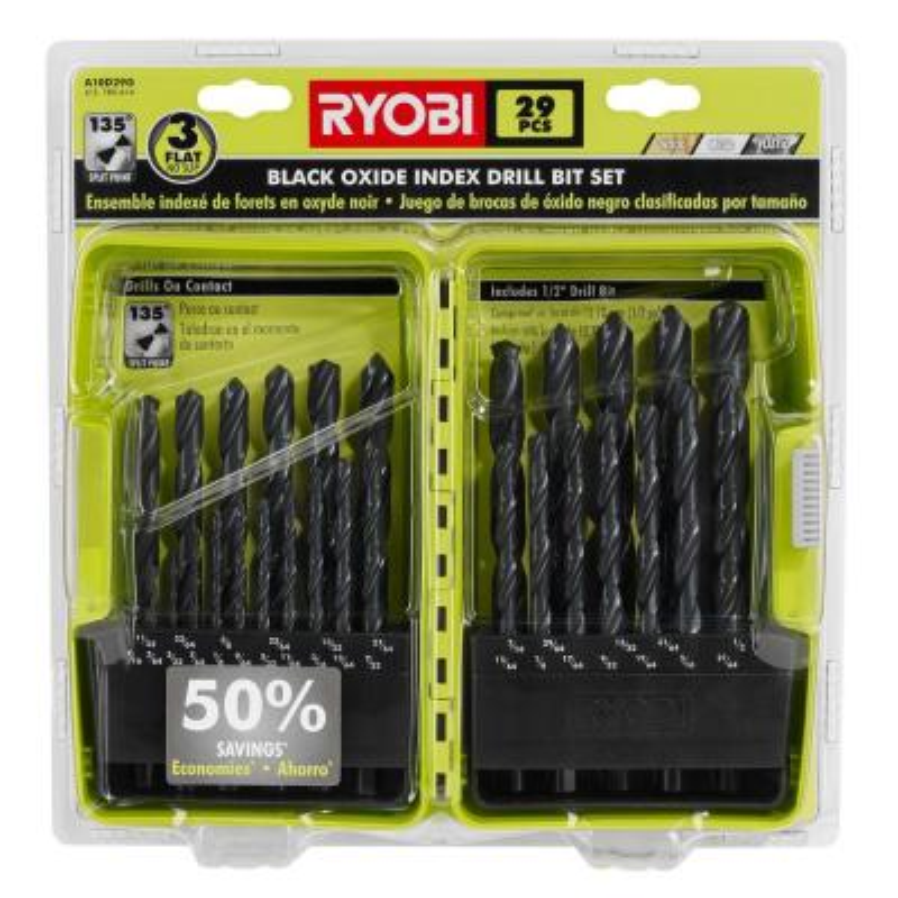 Black Oxide Index Drill Bit Set (29-Piece)