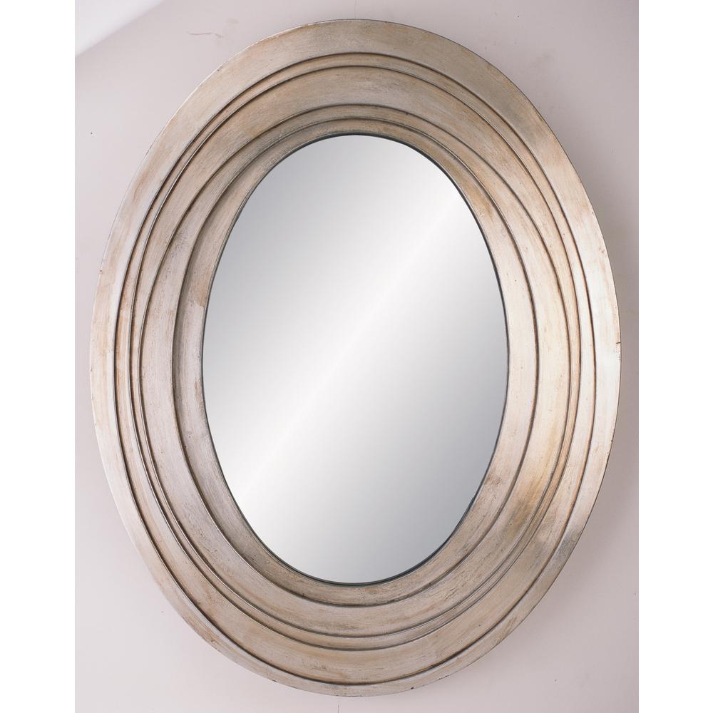 Silver Ripple Decorative Mirror