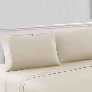 290TC Polyester Cotton Fitted Sheet Only Eggplant King