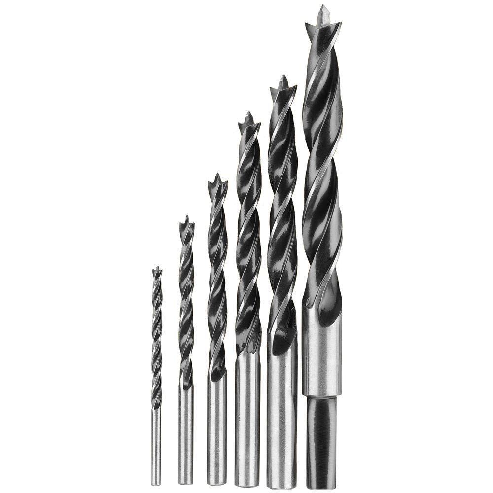 DEWALT High Speed Steel Brad-Point Drill Bit Set (6-Piece)
