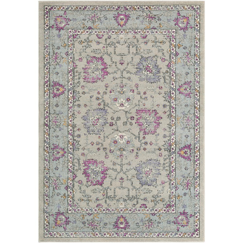 Artistic weavers raphaelle purple gray 2 ft x 3 ft for Rugs with purple accents