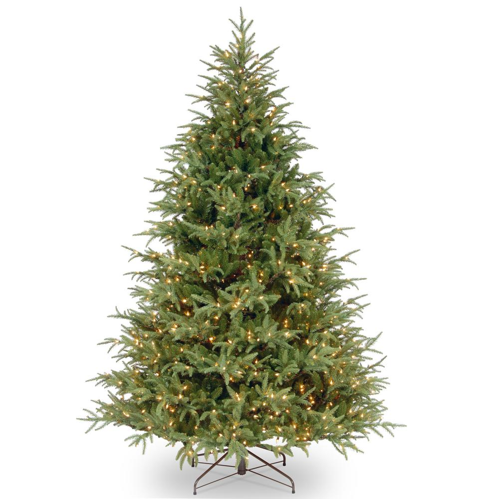 National Tree Company 7 ft. Feel Real Frasier Grande Hinged Tree with 800 Dual Color LED Lights