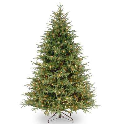 7 ft. Feel Real Frasier Grande Hinged Tree with 800 Dual Color LED Lights