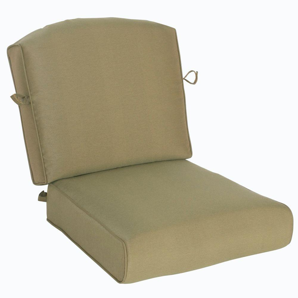 Hampton Bay Edington Lounge Chair Replacement Seat And Back Cushion 141 034 Srl1 Csh The Home Depot