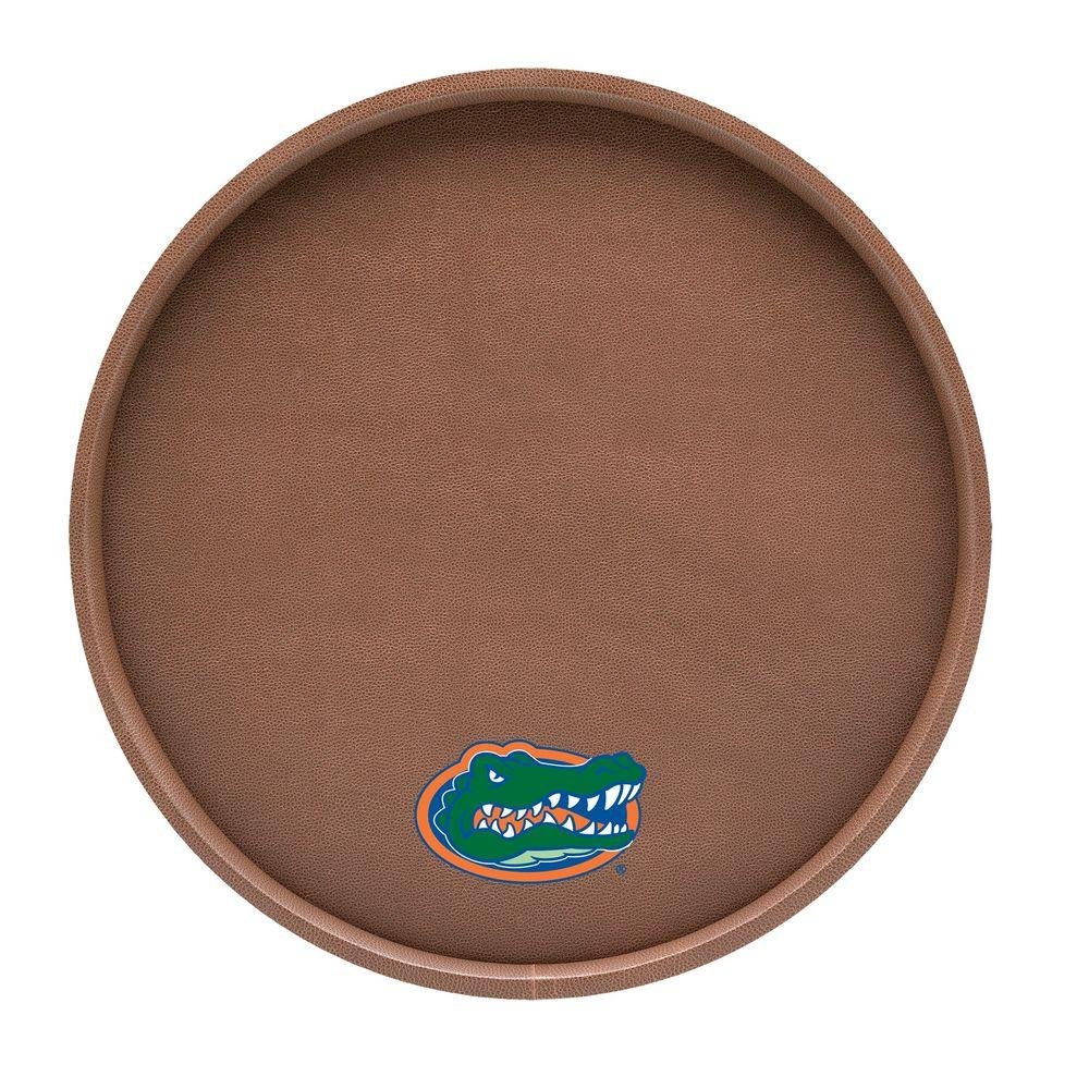 Kraftware Florida 14 in. Football Texture Deluxe Round Serving Tray