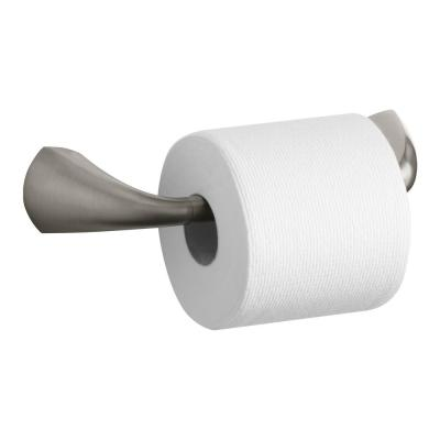 Alteo Pivoting Double Post Toilet Paper Holder in Vibrant Brushed Nickel