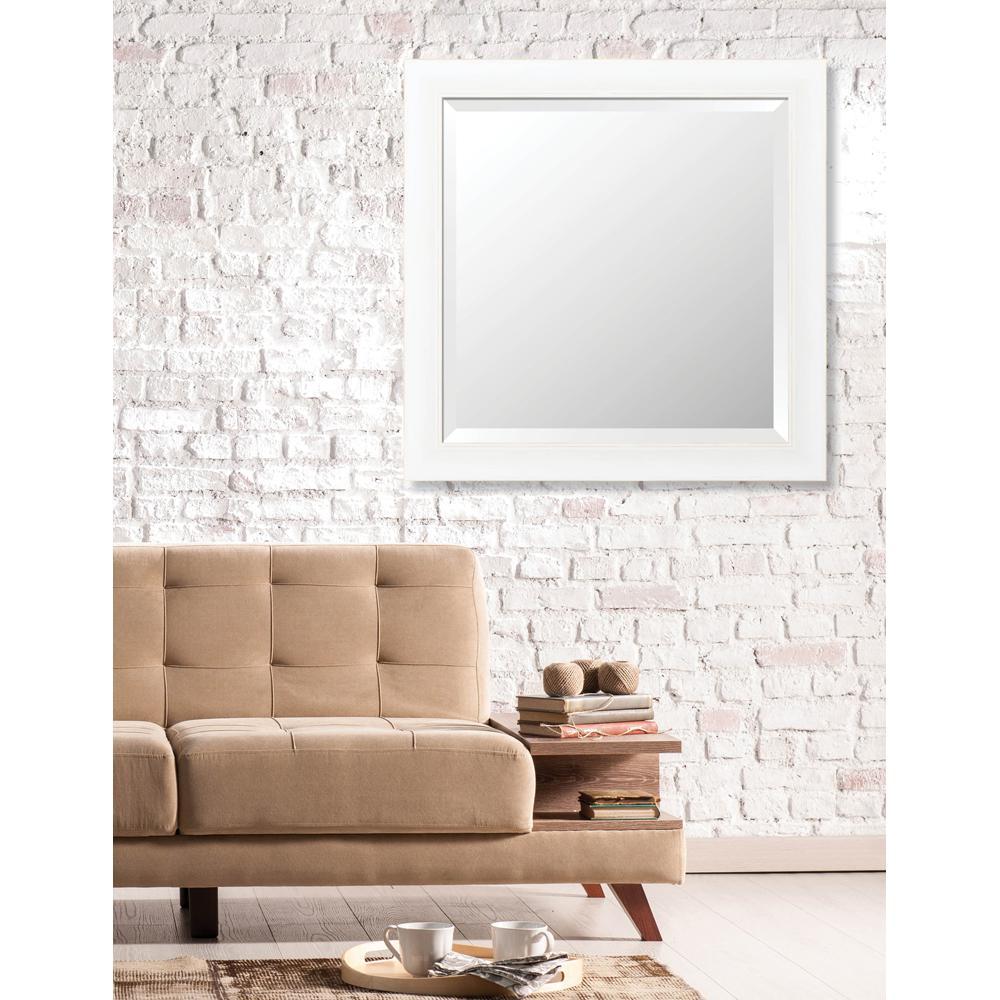 Acadia 29 in. x 29 in. Transitional Framed Bevel Mirror