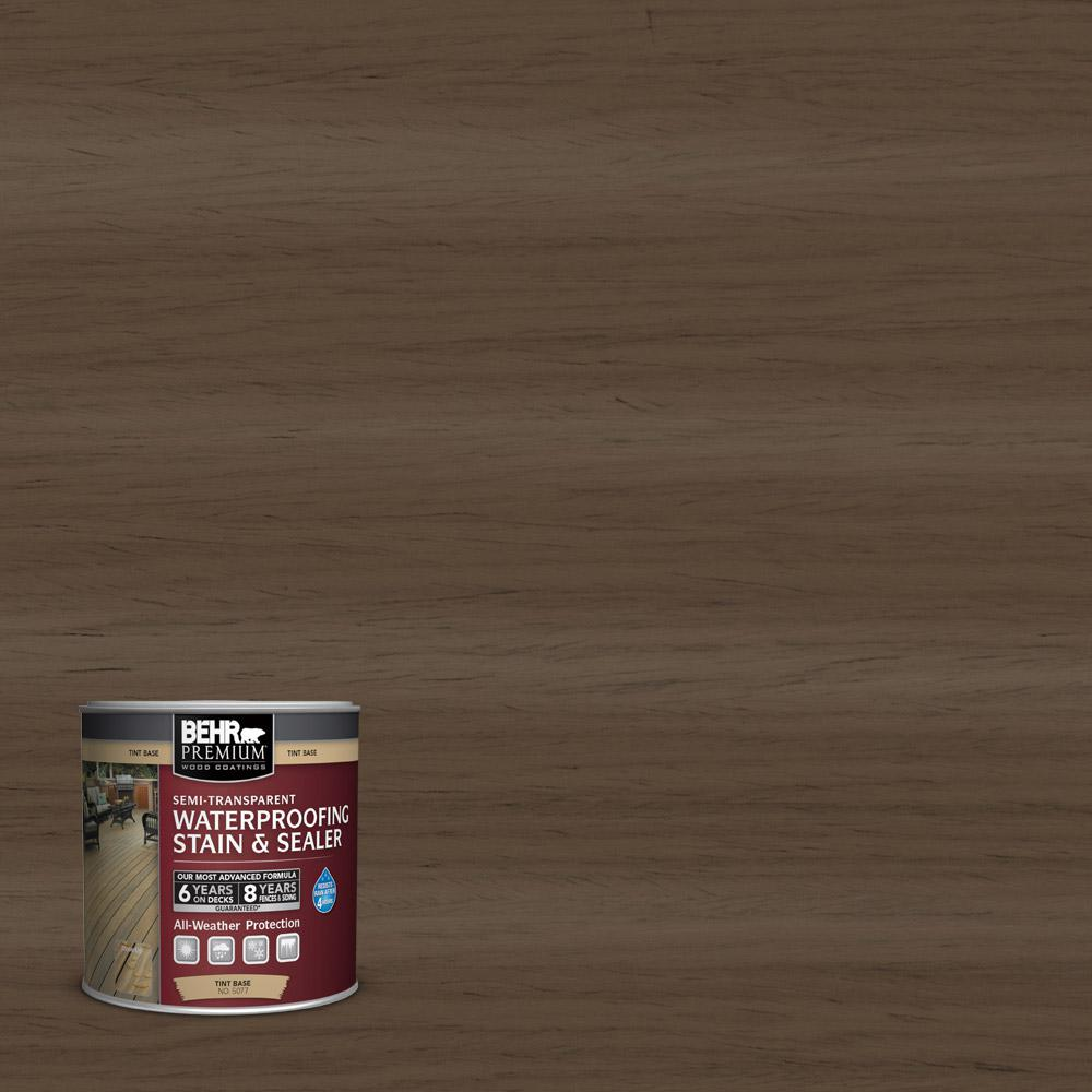 Behr Premium 8 Oz St 141 Tugboat Semi Transparent Waterproofing Exterior Wood Stain And Sealer