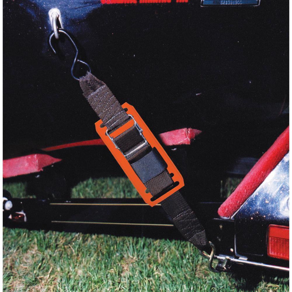 Rod Saver 2PB2VP Paddle Buckle Transom Tie-Down w//Orange Pads 2 X 2