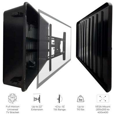 Outdoor TV Hard Cover Weatherproof Protection 55-65 in. Television Mounting Bracket Included
